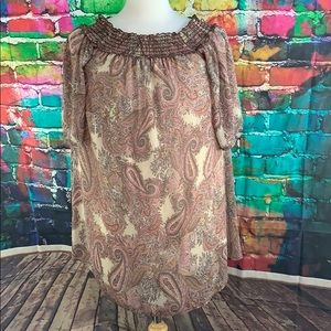 Gypsy Rose Womens Dress Size M Paisley Print